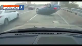 لحظه چپ کردن خودرو در اتوبان