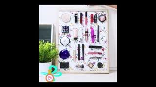 ایده ای جالب برای نظم دادن به میز آرایش
