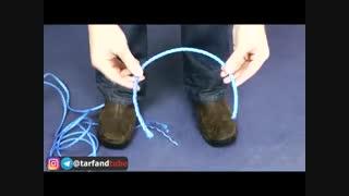 یک روش جالب برای پاره کردن طناب، با دست