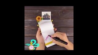 آموزش ساخت دفترچه یادداشت با دستمال کاغذی