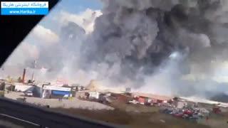 آتش گرفتن کارخامه مواد آتش بازی در مکزیک