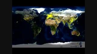 تایم لپس ترافیک هوایی جهان در24 ساعت