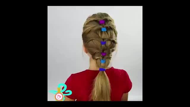آموزش  بستن مو با ۳ مدل دخترانه و خوشگل