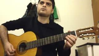 تنگنا از زنده یاد فریدون فروغی(ملودی) با گیتار