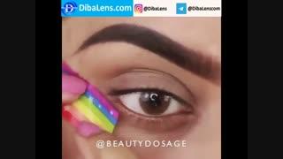 لنز ایلوژن عسلی خاکی| DibaLens.com- Dusty Honey