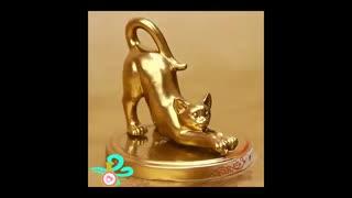 آموزش ساخت مجسمه گربه طلایی