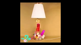 آموزش تزیین چراغ مطالعه با عروسک های قدیمی