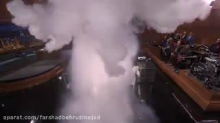 066- ریختن آب جوش روی نیتروژن مایع