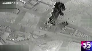تصاویر پهپادهای ارتش روسیه از لحظه حمله به پایگاه داعش در شمال روسیه