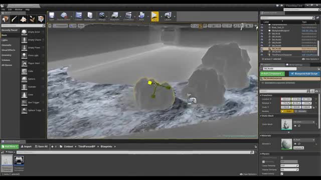 UE4 - How to Make Dynamic Flowing Water
