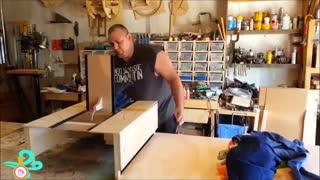 آموزش ساخت دستگاه تاکن لباس با چوب مدل پیشرفته