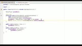 آموزش برنامه نویسی Android | طراحی اپلیکیشن اجرای آهنگ در اندروید