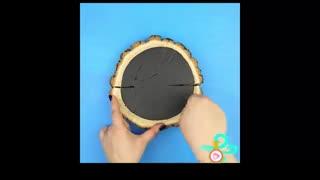 آموزش ساخت جاکلیدی دیواری طرح چوب