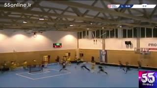 ریزش ناگهانی سقف یک سالن ورزشی در اسپانیا