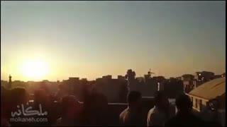 واکنش جالب مردم به تیراندازی ضدهوایی در مرکز تهران
