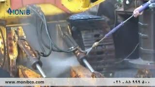 شستشوی ماشین آلات  ساختمانی با واترجت صنعتی