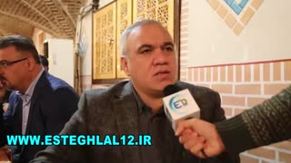 گفتگوی دکتر فتح اله زاده در حاشیه مراسم زادروز منصور پورحیدری فقید