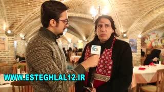 گفتگوی شاهین بیانی در حاشیه مراسم زادروز منصور پورحیدری فقید