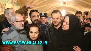 مراسم زادروز منصور پورحیدری به همت پیشکسوتان استقلال از یار دوازدهم استقلال