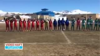 گرم کردن فوتبالی به سبک دخترها