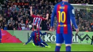 خلاصه بازی:  بارسلونا  1 - 1  اتلتیکومادرید