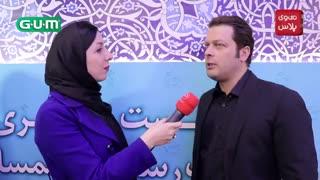 پژمان بازغی: هیچ وقت درباره همسرم توصیه ای به تهیه کننده یا کارگردان ها نکرده ام/در حاشیه اکران اسرافیل در کاخ جشنواره