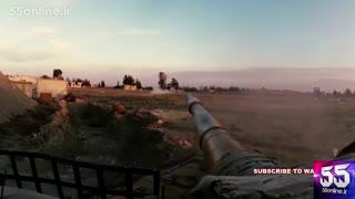 درگیری تانک ارتش سوریه با داعش از زاویه راننده تانک