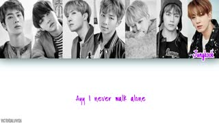 BTS - A Supplementary Story: You Never Walk Alone LYRICS [COLOR CODED HAN|ROM|ENG