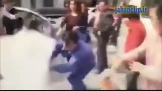 داماد عروس رو از روی سرش زد زمین