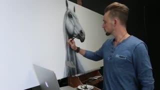 نقاشی فوق العاده دیدنی از اسب