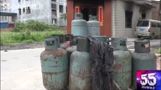 لحظه انفجار کپسول گاز در خانه ای در چین