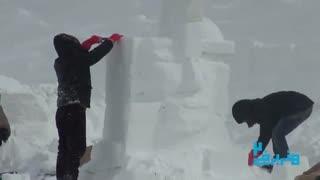 دومین جشنواره هنر های برفی  مشهد  دولت آباد پیست اسکی شیرباد