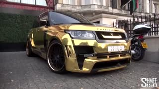 خودرو لوکس رنجرور با روکشی از طلای 24 عیار !