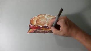 تایم لپس دیدنی از طراحی 3 بعدی همبرگر !