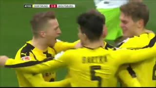 خلاصه بازی :  دورتموند  3 - 0  وولفسبورگ