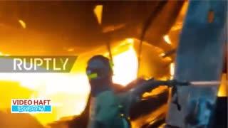 آتشسوزی در بازار روسیه