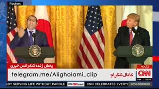 کلیپ خنده دار شوخی کمدین ایرانی با ترامپ در حضور خودش