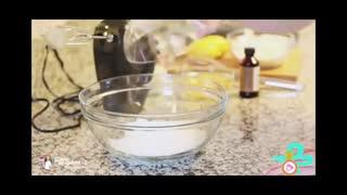 طرز تهیه کیک لایه ای بلوبری و لیمو