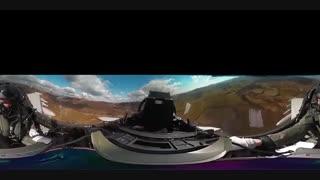 فیلم 360 درجه از داخل کابین جنگنده