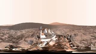 فیلم 360 درجه کنجکاوی مریخ نورد ناسا در Namib Dune