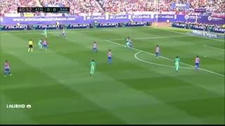 هایلایت حرکات لیونل مسی مقابل آتلتیکو مادرید ( بازی خارج از خانه )