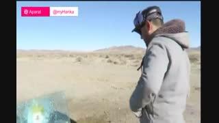 شیشه ضد گلوله در برابر اسلحه قدرتمند BFG-50A