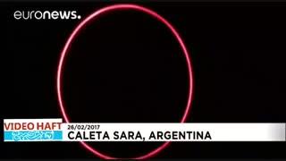 تصاویری زیبا از لحظه خورشید گرفتگی در آرژانتین