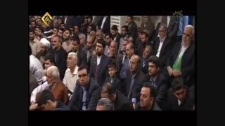 حاج محمود کریمی ولادت حضرت زهرا (س) مداحی در حضور رهبری